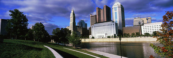 Skyscrapers At The Waterfront, Scioto Poster