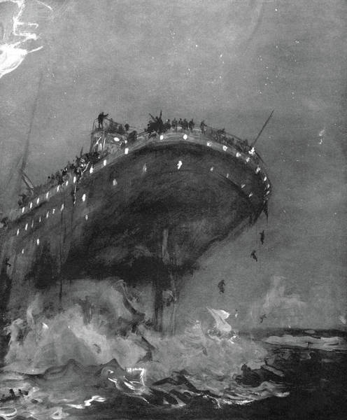 Titanic Sinking, 1912 Poster