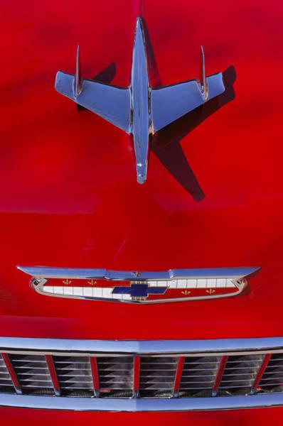 1955 Chevrolet Belair Nomad Hood Ornament Poster