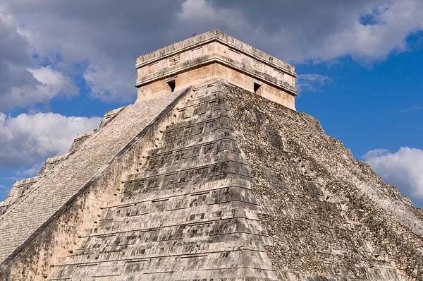 Chichen Itza Modern Seven Wonders Of The World In Mexico Poster