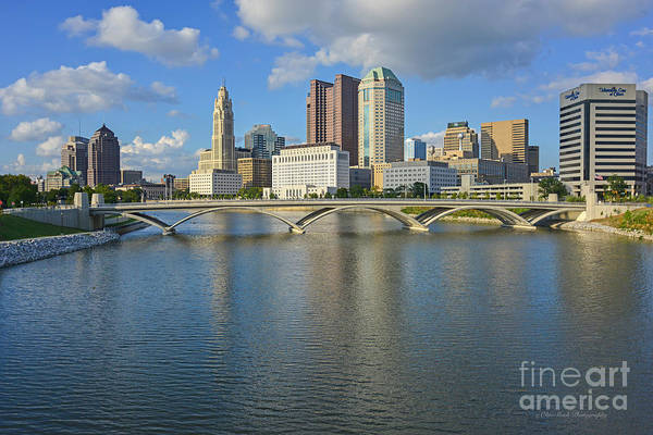 Fx1l-802 Columbus Ohio Skyline Photo Poster