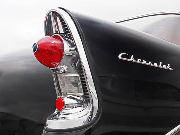 56 Chevy Rear Lights Poster