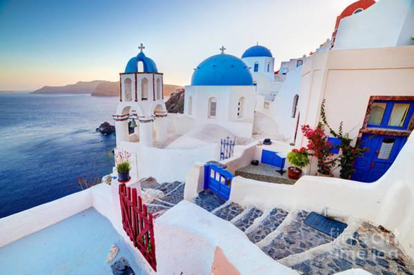 Oia Town On Santorini Greece Poster