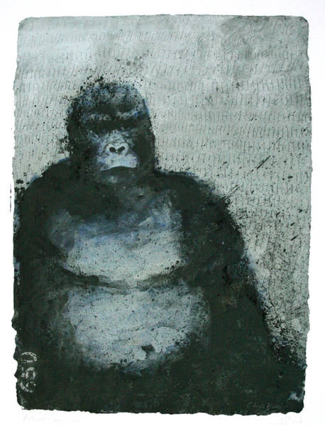 650 Mountain Gorillas, 2008 Mixed Media Poster