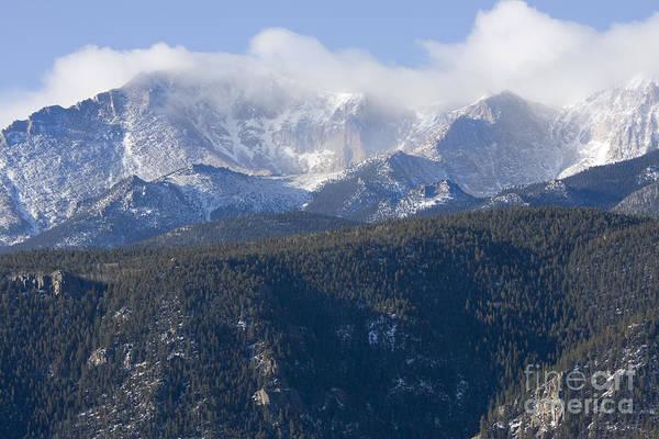 Cloudy Peak Poster