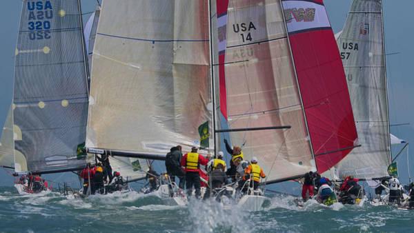 San Francisco Bay Sailboat Racing Poster