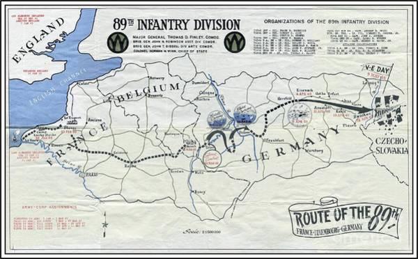 89th Infantry Division World War I I Map Poster