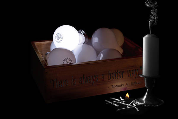 A Better Way Still Life - Thomas Edison Poster
