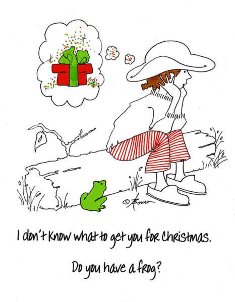 A Christmas Frog Poster
