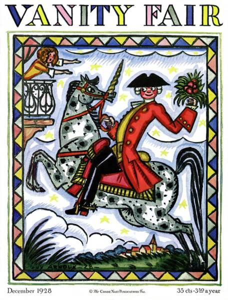 A Colonial Gentleman On Horseback Poster