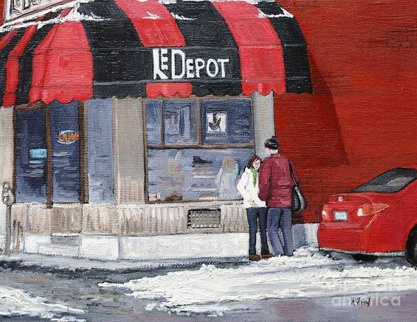 A Conversation Near Le Depot Poster