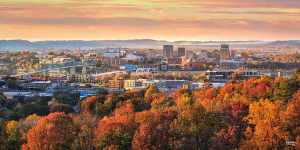 A Crisp Fall Morning In Chattanooga  Poster