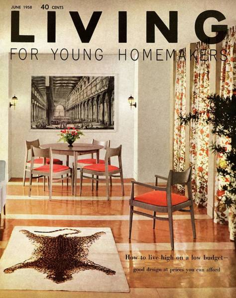 A Dining Room With A Silver Table And Chairs Poster