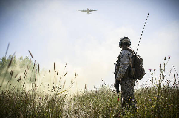 A Drop Zone With Smoke Poster