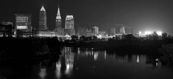 A Hazy Cleveland Night At Progressive Field Poster