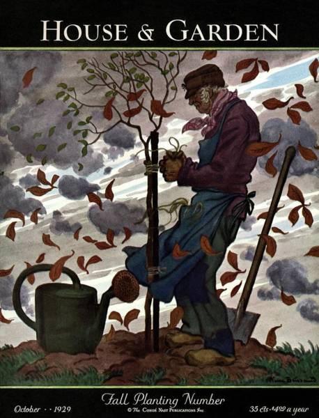 A House And Garden Cover Of A Gardener Poster