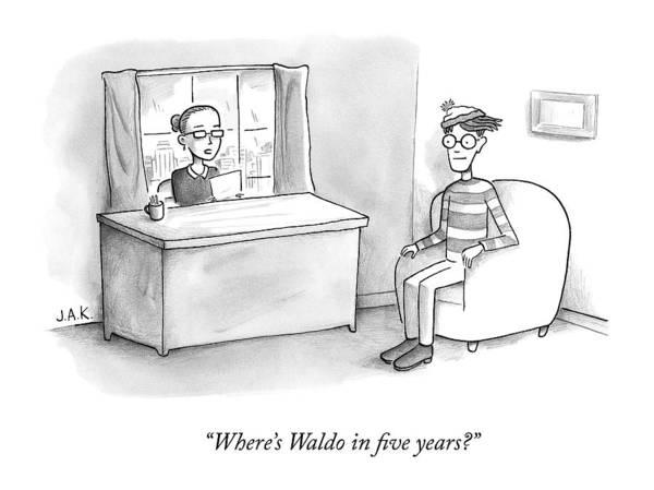 A Job Interviewer Asks Waldo Poster