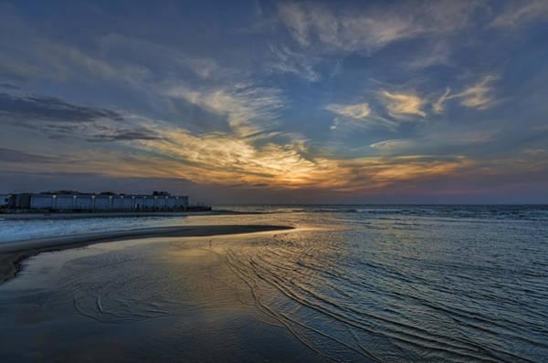 a joyful sunset at Tel Aviv port Poster