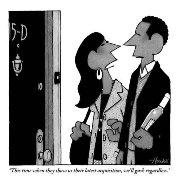 A Man And Woman Speak In A Hallway Outside An Poster