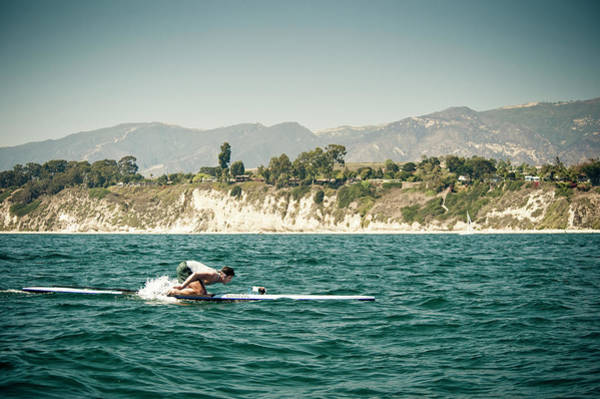 A Man On A Paddleboard, Racing Poster