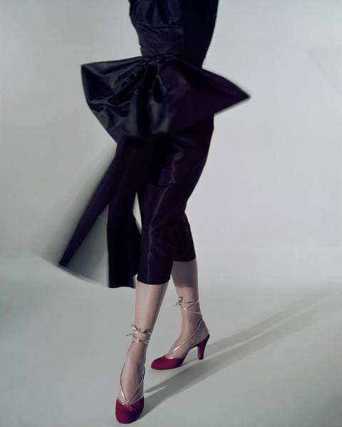 A Model Wearing Red Shoes Poster