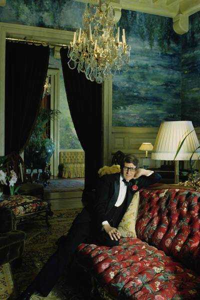 A Portrait Of Yves Saint Laurent At His Home Poster
