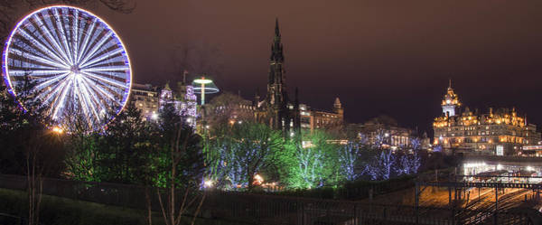 Poster featuring the photograph A Princes Street Gardens Christmas by Ross G Strachan