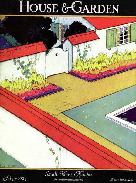 A Reflecting Pool And Garden Poster