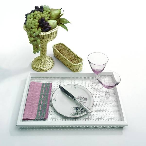 A Summer Table Setting On A Tray Poster
