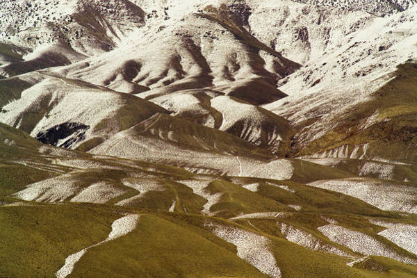 A View Of A Mountainside With Melting Poster