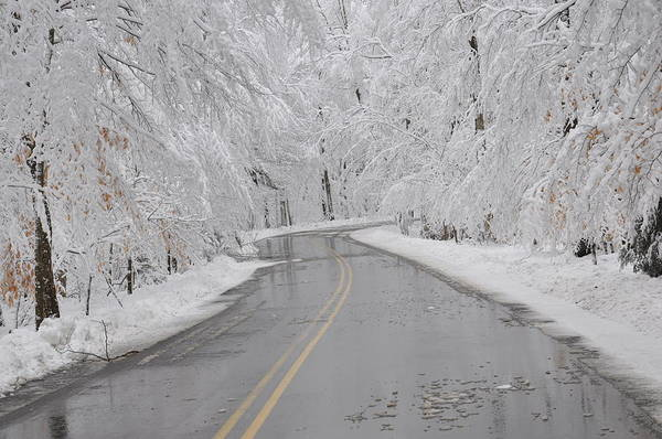 A Winter Drive In Door County. Poster