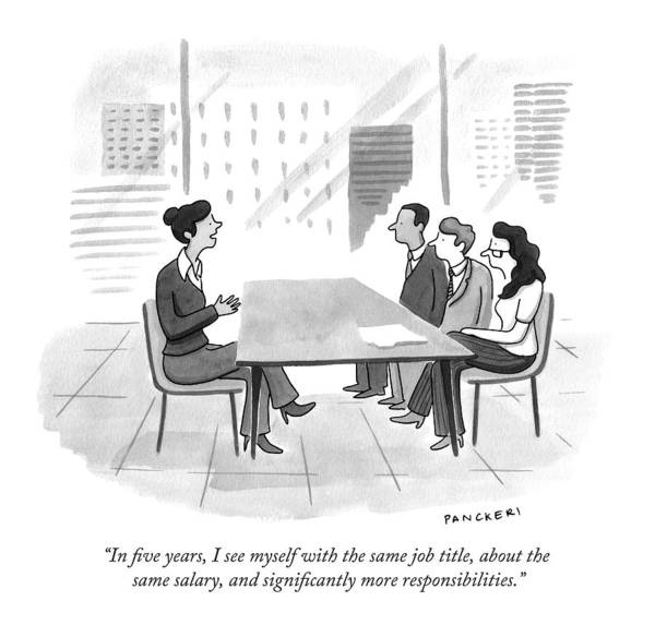 A Woman At A Job Interview Poster
