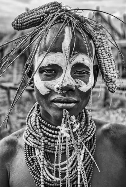 A Woman Of The Karo Tribe (omo Valley-ethiopia). Poster