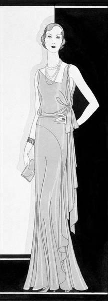 A Woman Wearing An Augustabernard Dress Poster
