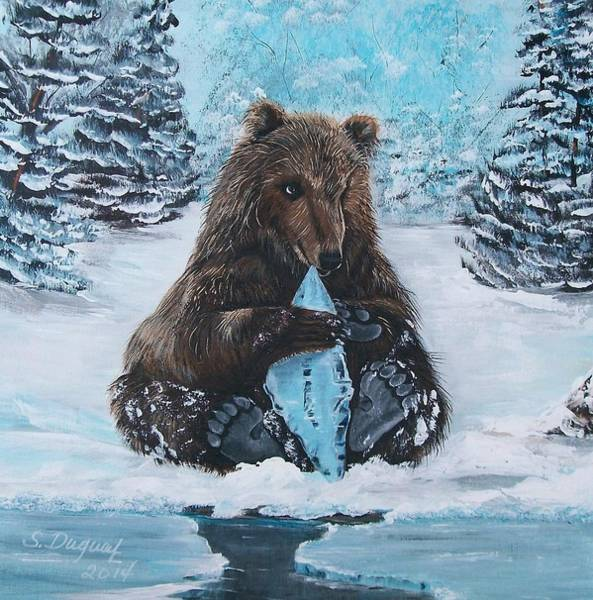 A Young Brown Bear Poster