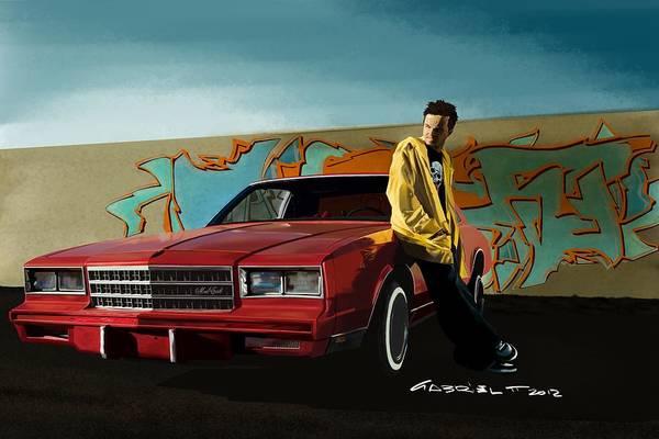 Aaron Paul As Jesse Pinkman @ Tv Serie Breaking Bad Poster