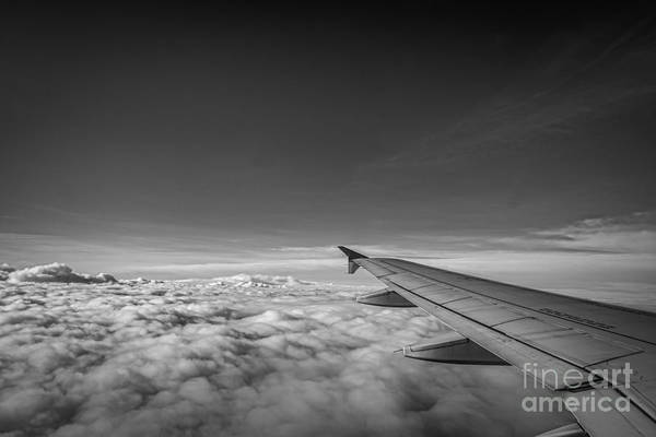 Above The Clouds Bw Poster