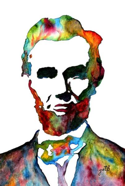 Abraham Lincoln Original Watercolor  Poster