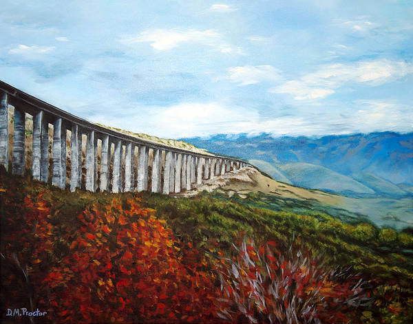 Poster featuring the painting Abruzzo Italian Countryside  by Donna Proctor