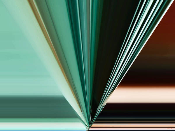 Abstract - Teal - Aqua - Five Poster