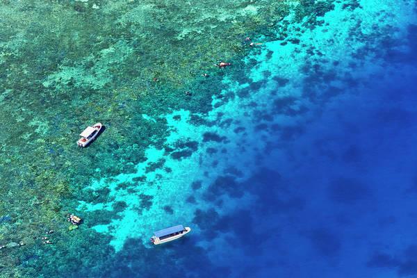 Aerial View Of Beach, Palau Poster