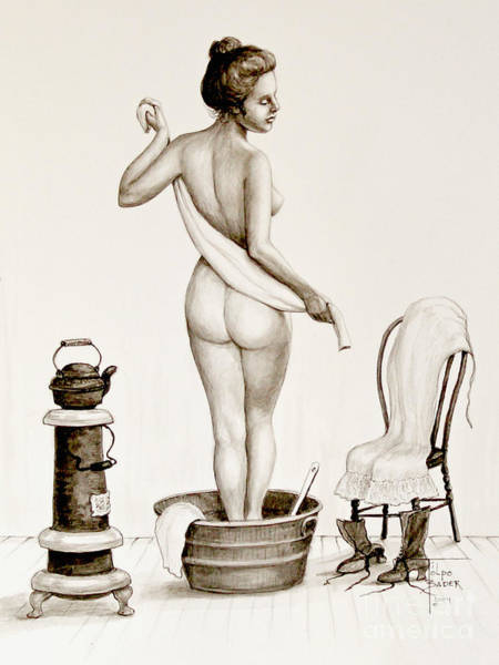 After The Bath 1890's Poster