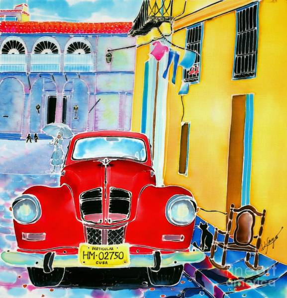 Poster featuring the painting Afternoon In Havana by Hisayo Ohta