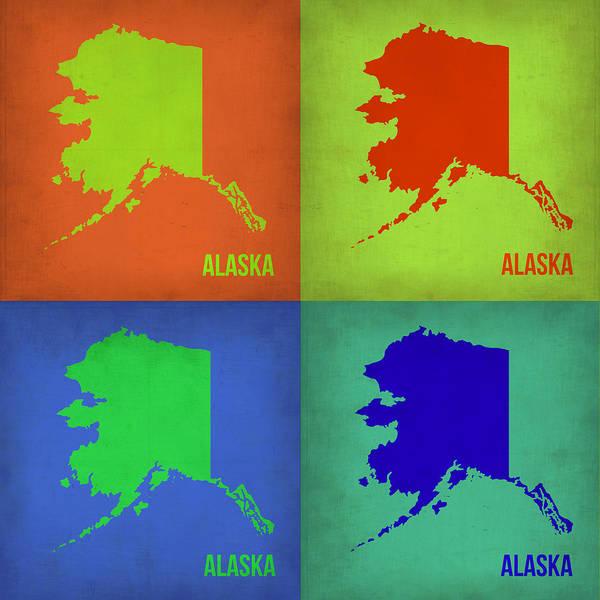 Alaska Pop Art Map 1 Poster