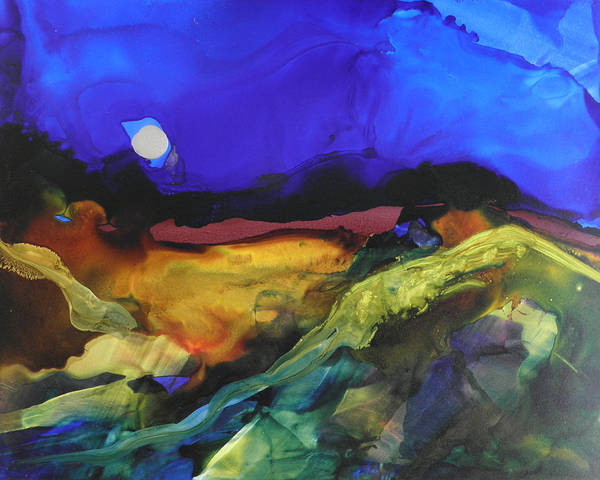 Alcohol Ink Landscape # 164 Poster