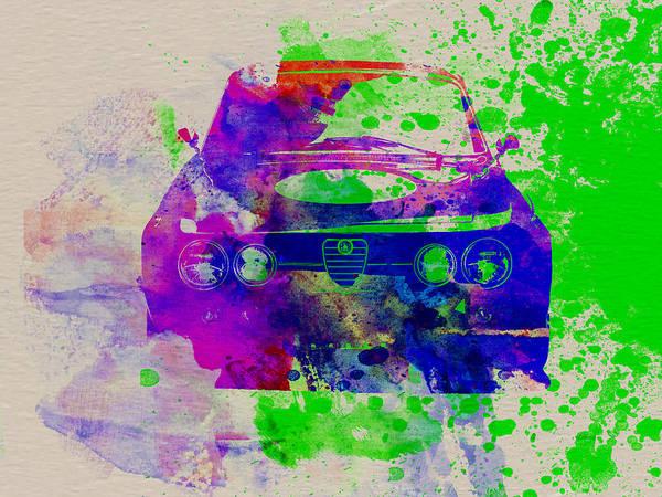 Alfa Romeo Front Watercolor 1 Poster
