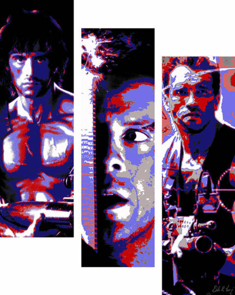 All-american 80's Action Movies Poster