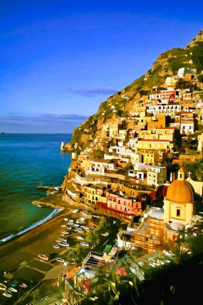 Along The Amalfi Coast Poster