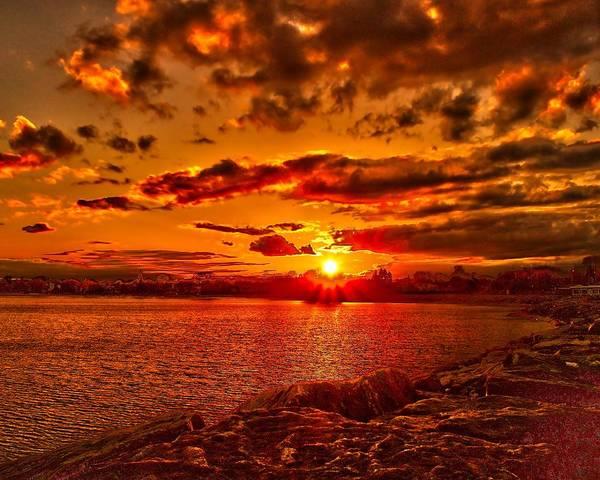 Alpena Sunset Poster
