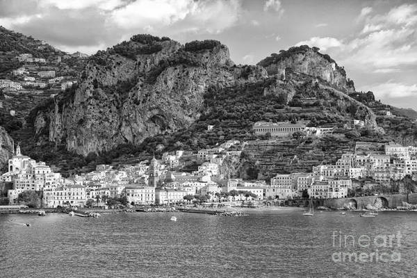 Poster featuring the photograph Amalfi Coast Monochrome by Kate McKenna